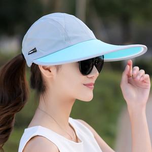 Оптовая продажа-SORRYNAM летняя шляпа женщины УФ-защита широкими полями бейсболка сетки дамы шляпа теннис Рыбалка пляж шляпы Солнца мужчины Casquette Homme