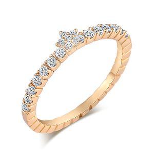Hot elegante fascino austriaco cubicl zircone stella Regina Corona anello di nozze anelli di fidanzamento sposa gioielli Piuttosto per la giovane signora HR-071