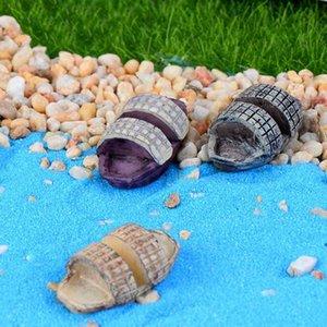 Black-suning Boat Paese Stile Ecologico Bottiglia Materiale fai-da-te Terrario Micro Beach Paesaggio Ornamenti per acquario Giardino da giardino Fairy