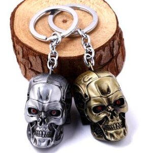 Portachiavi Movie Terminator - Cool 3D Skull Head Shape Portachiavi in metallo Portachiavi Lega Metal Terror Skull Key Hloder Anelli