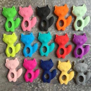 Silikon Kinderkrankheiten Fox Anhänger Halskette - Baby Chew Schmuck Kinderkrankheiten Halskette Anhänger Fox Beißring