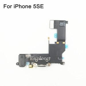 10 PCS Original para o iPhone SE 5SE USB Dock Conector Carregador de Carregamento de Porta De Áudio Fone De Ouvido Jack Fita microfone Flex Cabo de Substituição parte