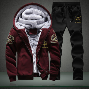 Toptan-Erkekler Kapüşonlu Moda Hoodies Erkekler Casual Kazak Hoody Kış Sıcak Hoodie Erkek Sudaderas Hombre Artı Boyutu M-4XL Kalın Ceket