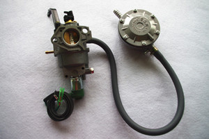 Бензин LPG комплект преобразования ручной дроссельный клапан подходит Honda GX390 188F SHW190 бесплатная доставка 5kw 13HP бензиновый двигатель частей