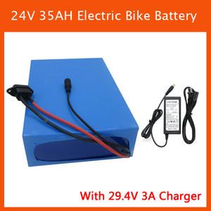 Rechargeable 1000W 24V EBike Batterie 24V 35AH batterie au lithium avec étui en PVC 50A BMS 29.4V 3A chargeur livraison gratuite