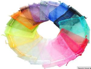 New FashionWholesale 100 pezzi Bella confezione regalo in organza con colori misti F17299-F17300 adatto per matrimonio, festa