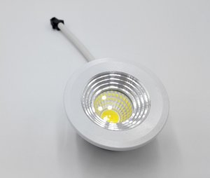 10pcs Dimmable Mini LED 5W COB Downlight AC85-265V bibliothèque lampe bijoux plafond led + pilote conduit CE / ROHS