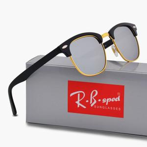 Diseñador de la marca de gafas de sol polarizadas para hombres mujeres Gafas de sol marco de ojo de gato lentes Polaroid Bisagra de metal Gafas de sol con estuches marrones