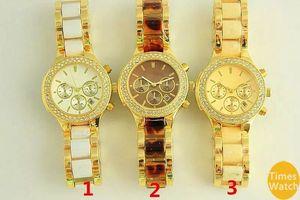 Famosa marca M, moda, reloj de pulsera, acero inoxidable, mujeres, oro, cuarzo, Japón, movimiento, Mejor regalo, wacthes