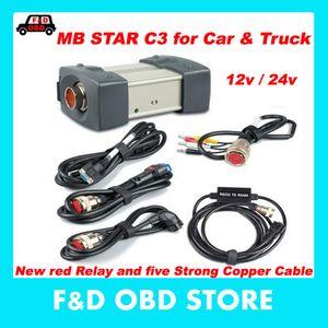 Sonderpreis (12V / 24V) MB STAR C3 keine Software Alle neuen roten Relais und fünf starken Kupferkabel Stern c3 können Autos und LKW unterstützen