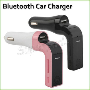 Free DHL Shipping CAR G7 Bluetooth Car Charger FM Transmitter MP3 Music Player Support SD TF Card Handfree FM Modulator Adapter 200pcs
