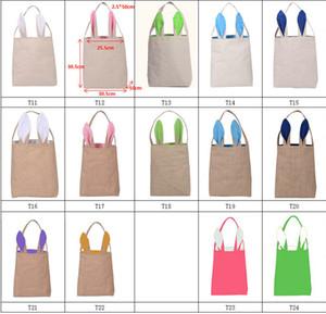 14 Stil Osterhase Ohr Tasche DIY Sticken Baumwolle Leinenkorb Tasche Ostern Weihnachten Halloween Geschenk Verpackung Handtaschen Für Kinder Festival Taschen