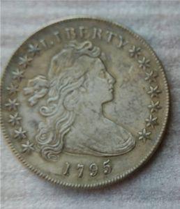 Stati Uniti Draped Bust Dollar 1795 Monete Copia Archaize Old Looking Monete USA Ottone Artigianato Monete \ Intera Vendita Spedizione Gratuita