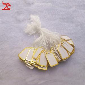 Joyería tienda de herramientas de exhibición de joyas 200 piezas pequeña Tie-on etiqueta de precio de oro etiqueta de precio para las ventas de joyas envío gratis