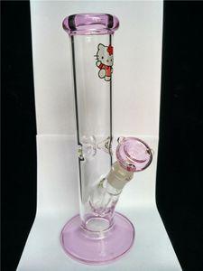 tiktok heißes Lasso rosa bong Kitty sehr dickes Glas gerade schöne Katze Glas Tabakspfeifen Grundwasser Perkolat Glasbongs