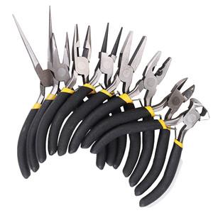 8pcs rodada beading nariz alicate fio lateral cortadores alicates conjunto de ferramentas