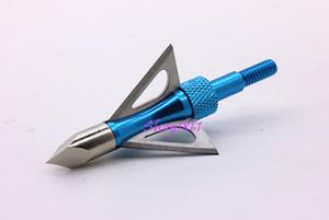 3 piezas Ultra afiladas 3 cuchillas de hoja de acero inoxidable fijas Caza Flecha Cabeza Broadheads Tiro con arco