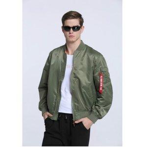 Yüksek Kaliteli Ma1 Ordu Yeşil Taktik Askeri varsity Uçuş Rüzgarlık Pilot ABD Hava Kuvvetleri Bombacı Ceket Erkekler için Giysileri