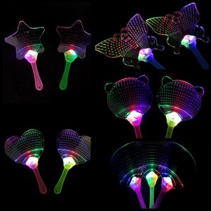 New light colorful summer hot LED fan stall LED flash plastic toy