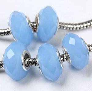 50pcs / lot bleu jade perles en cristal à facettes pour la fabrication de bijoux en vrac charms perles bricolage pour bracelet en gros en vrac faible prix