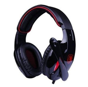 Originale Sades SA-902 auriculares Hifi Stereo 7.1 Surround Led Headset fone gamer ouvido Fascia Gaming Cuffie per PC Rosso