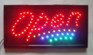 Toptan iş doğrudan satış led işareti 10X19 inç yarı açık yanıp sönen özel led açık işaretleri
