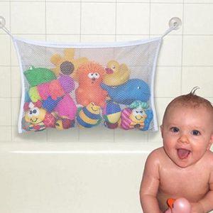 1 Pcs Stroller Acessórios Do Bebê Brinquedo Saco De Malha De Sucção Organizador Banho De Malha De Rede De Armazenamento De Saco De Boneca De Coisas Casa de Banho Banheira Branco