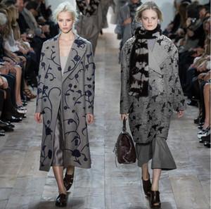 Klassische Stickerei europäischen amerikanischen High-End-elegante Mode Womens Streifen Wolle Stoffe für Kleidung Mantel Cashmere Rock Wolle Stoff B165