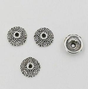 Hot ! 500pcs Antique Silver Zinc Alloy Crafted Bead Caps 10mm DIY Jewelry