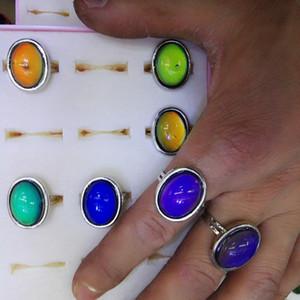 moda cristal anéis de humor redondo de acordo com o anel tempereture 200 pçs / lote