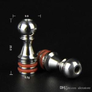50Pcs Five Pawns 510 Drip Tips Bocchino in acciaio inox con doppio O-ring adatto 5 Pawns RDA Atomizzatore RBA Kayfun Lite Plus Acessorios