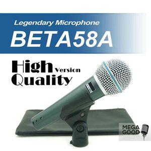Venta de alta calidad de la versión Beta 58 un Vocal Karaoke portátil atado con alambre dinámico micrófono BETA58 Micrófono Mike Beta 58 Un micrófono