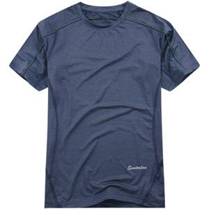 Al por mayor-2016 coolmax camiseta de manga corta hombres sólido rápido qying camisetas de secado rápido camisetas para acampar senderismo ciclismo jogging S13628