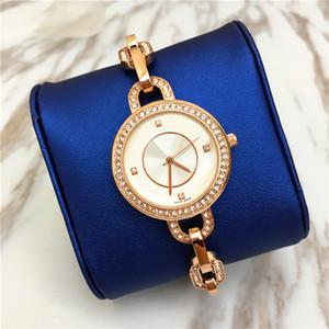 Venta caliente de Las Mujeres reloj de lujo envío gratis Moda joyería llena del diamante Nobel Mujer Cuarzo Alta Calidad Oro Señora Reloj de pulsera manos luminosas