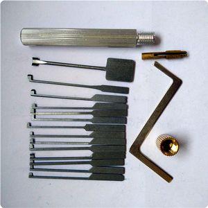 최고 품질 고급 14pcs 단일 후크 Dimple Lock pick set kaba locksmith tool 무료 배송