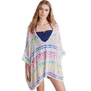 Sexy Surdimensionné Pull Triangle Motif Caftan Bikini Maillot De Bain Cover Up Casual Summer Dress Beachwear Mode 2016 Beach Cover Up