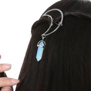 Encanto hueco Vintage Cresent pinza de pelo forma de luna colgante abrazadera Pin Barrette adornos para el cabello accesorios para el cabello