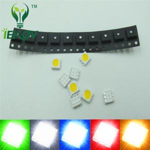 1000pcs PLCC-6 5050 SMD / SMT LED 200X Her renk Beyaz Kırmızı Mavi Yeşil Sarı Yayan Diyot Yüksek kaliteli SMD Chip lamba boncuk DIY