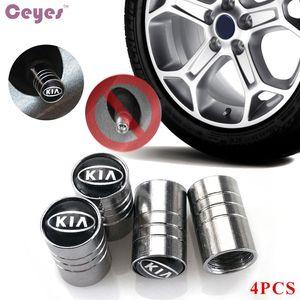Valvole delle ruote della ruota di automobile Emgrand Emblema Distintivo per Kia rio ceed sportage cerato anima k2 Pneumatico Stem Air Caps Car Styling 4 pz / lotto
