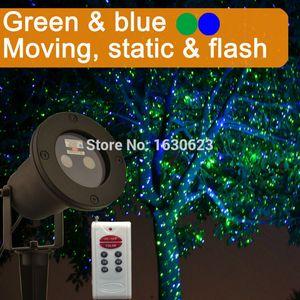 أخضر أزرق Flying Firefly ليزر ضوئي لعيد الميلاد ، وميض ضوئي Magic lightlight ضوئي ، IP65 خارجي ليزر ضوء مصباح ضوئي