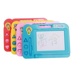 Brinquedos educativos para crianças Doodle Esboço Aprendizagem Brinquedo Apagável Plástico Colorido Magnético Prancha de Desenho (modelo De Cor) Saco de OPP Presentes de presente de Natal