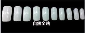 500 natural french nail art tips half cover Dropshipping