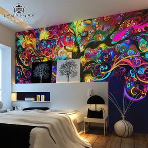 파치라 3D 입체 TV 배경 벽지 벽 창조적 인 성격을 커버 대륙 추상 회화 벽화 바
