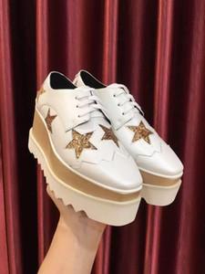 Italienisch neue Ankunfts-Marken Stella McCartney Schuhe Frauen verursachende Schuhe Sterne Wedges Sohle 100% echtes Leder
