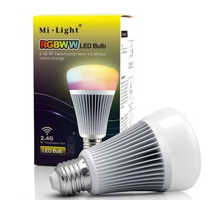 MI.LIGHT 2.4Ghz 8W Wireless RGB + White   Warm White Led Bulb E27 + 2.4G Remote Control