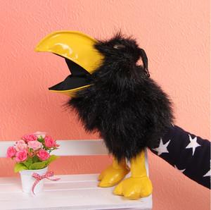 Плюшевая ворона-игрушка Фигурки в виде фигурок на руках Кукла-милая плюшевая кукла Реквизит развивающие игрушки