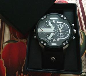 С подарочной коробке новый 2019 DZ мужские роскошные кварцевые часы модные часы японские кварцевые часы 5.0 циферблат из нержавеющей стали мульти-часовой пояс