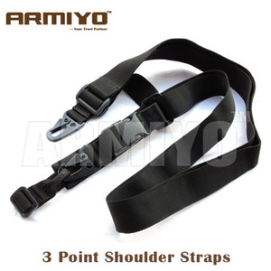 Armiyo Tactical 3 Point Hook Ring Fucile Gun Sling Caccia Accessori Airsoft Nero Dark Earth Green