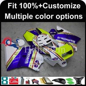 23colors + 8Gifts Spritzgießwerkzeug weiß blau Motorradhaube für HONDA NSR250 MC21 1990-1993 NSR250 MC21 90 93 ABS-Kunststoff Verkleidung