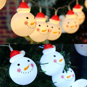 Christmas Decoration Snowman Designed LED Strings Fairy Lights Lights for Xmas Christmas Tree Ornaments Snowball Party Home Decor
